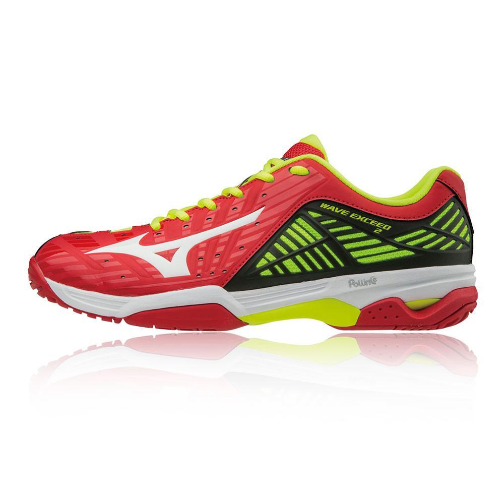 Mizuno – Hombre Wave Exceed 2 All Court Zapatillas De Tenis – Ss18 Tenis Rojo