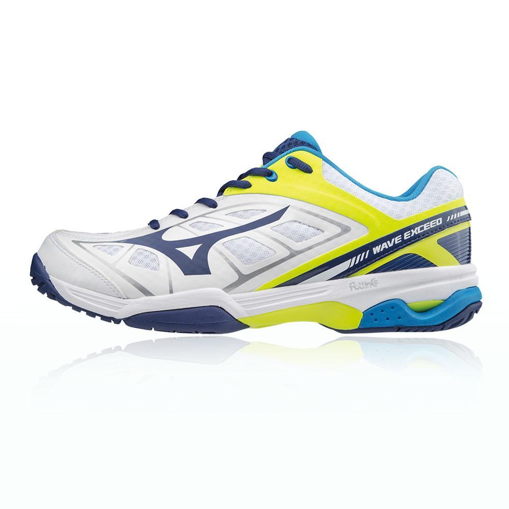 Mizuno – Hombre Wave Exceed All Court Zapatillas De Tenis – Aw17 Tenis Blanco/Amarillo/Azul