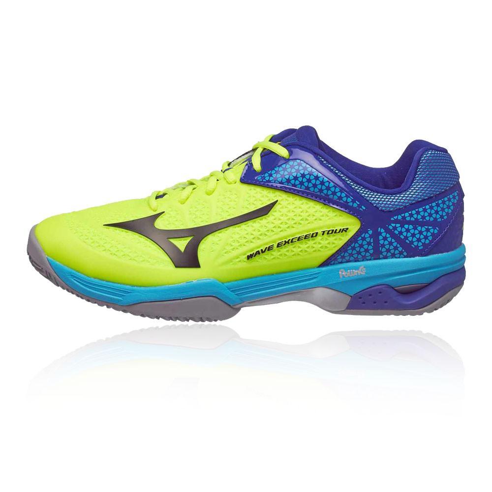 Mizuno – Hombre Wave Exceed Tour 2 Clay Court Zapatillas De Tenis Tenis Amarillo/Azul