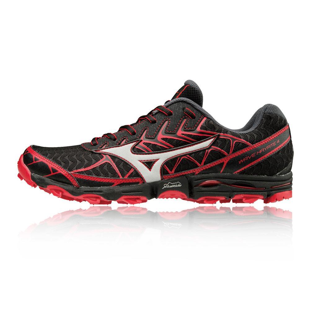 Mizuno – Hombre Wave Hayate 4 Trail Zapatillas De Running  – Ss18 Correr Rojo/Negro