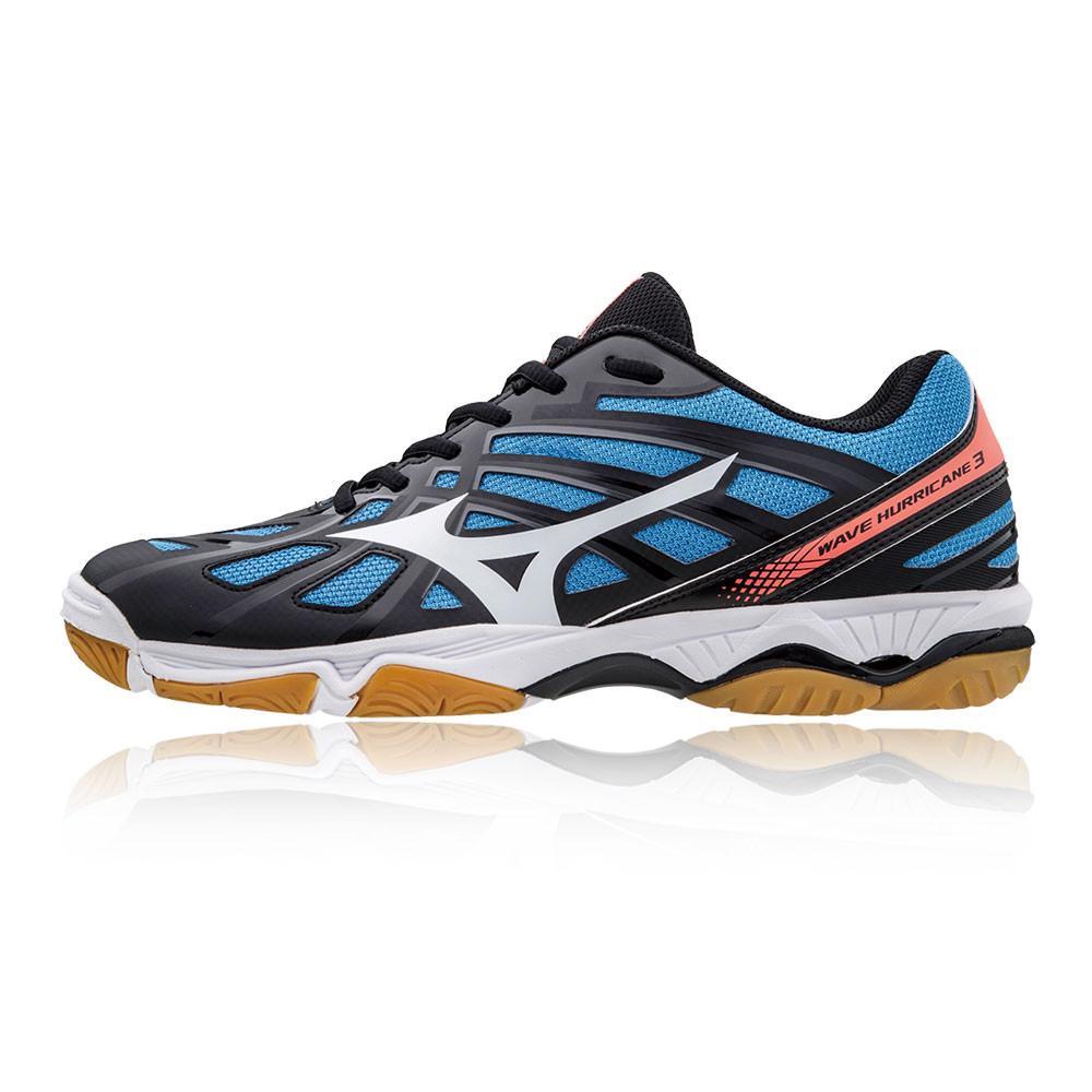 Mizuno – Hombre Wave Hurricane 3 Zapatillas Para Canchas Interiores  – Ss18 Bádminton Azul/Negro