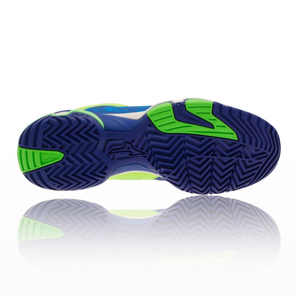 Mizuno – Hombre Wave Intense Tour 2 Ac Zapatillas De Tenis Tenis Verde/Azul