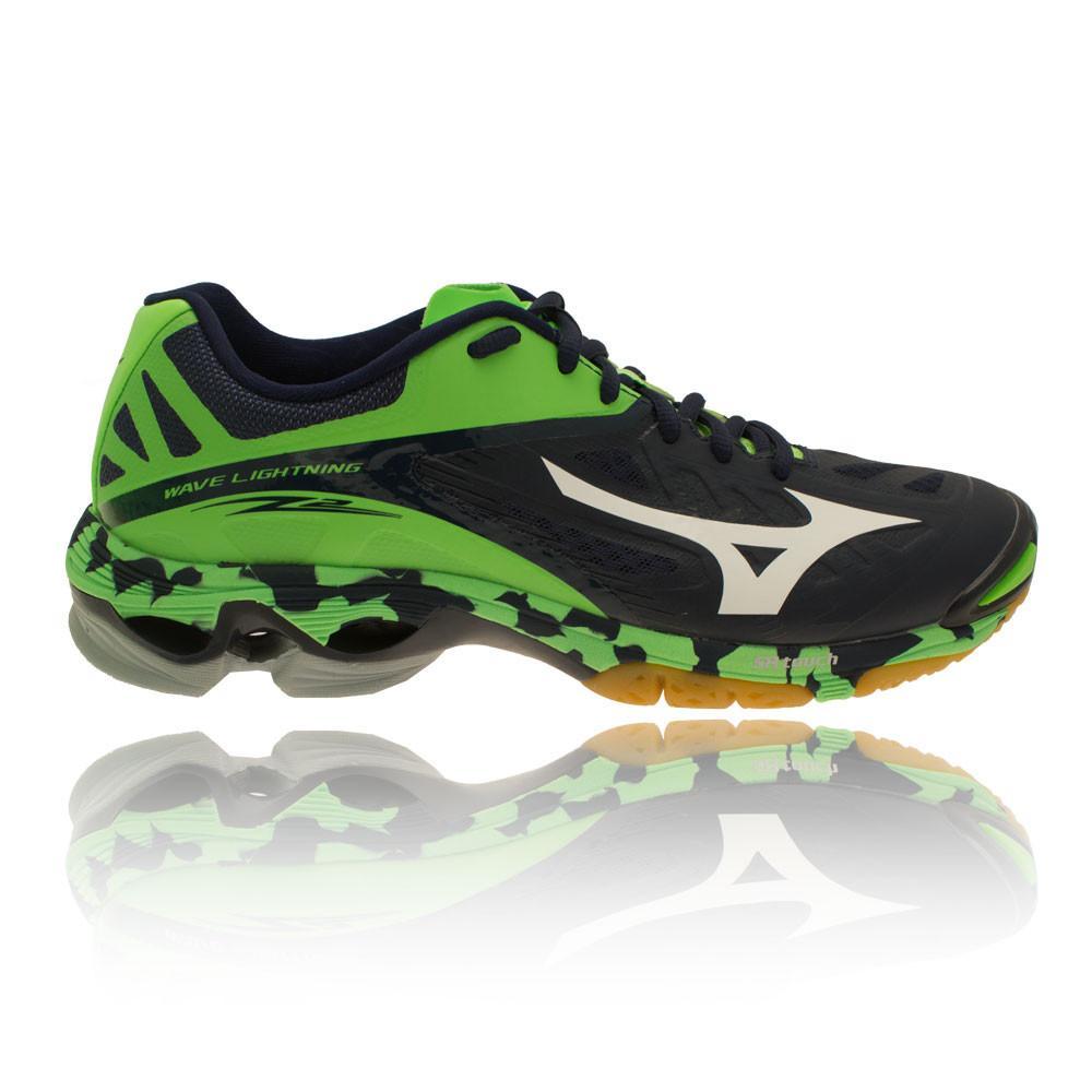 Mizuno – Hombre Wave Lightning Z2 Zapatillas Para Canchas Interiores BALON MANO Verde/Azul Marino
