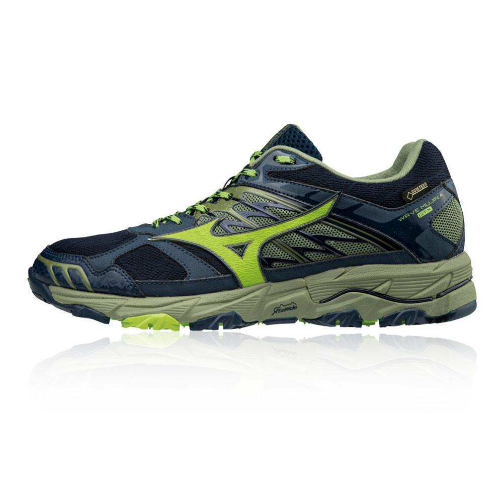 Mizuno – Hombre Wave Mujin 4 Gore-Tex Trail Zapatillas De Running  – Ss18 Correr Gris/Verde/Azul