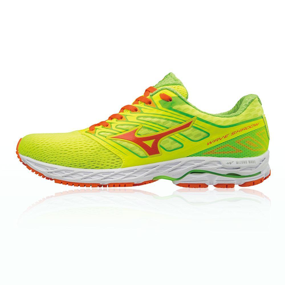 Mizuno – Hombre Wave Shadow Zapatillas De Running  – Ss18 Correr Amarillo/Verde