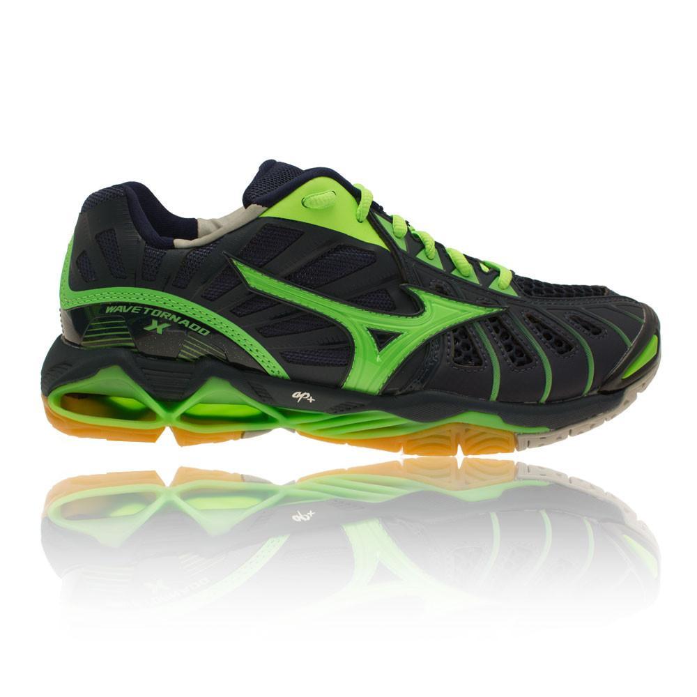 Mizuno – Hombre Wave Tornado X Zapatillas Para Canchas Interiores Squash Verde/Azul Marino