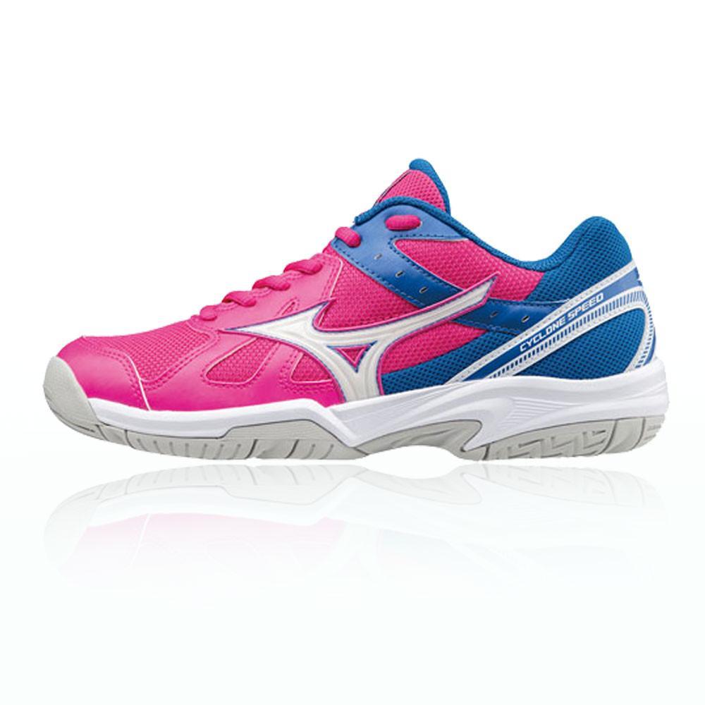 Mizuno – Mujer Cyclone Speed Para Mujer Zapatillas De Netball – Aw17 Netball Rosa/Azul