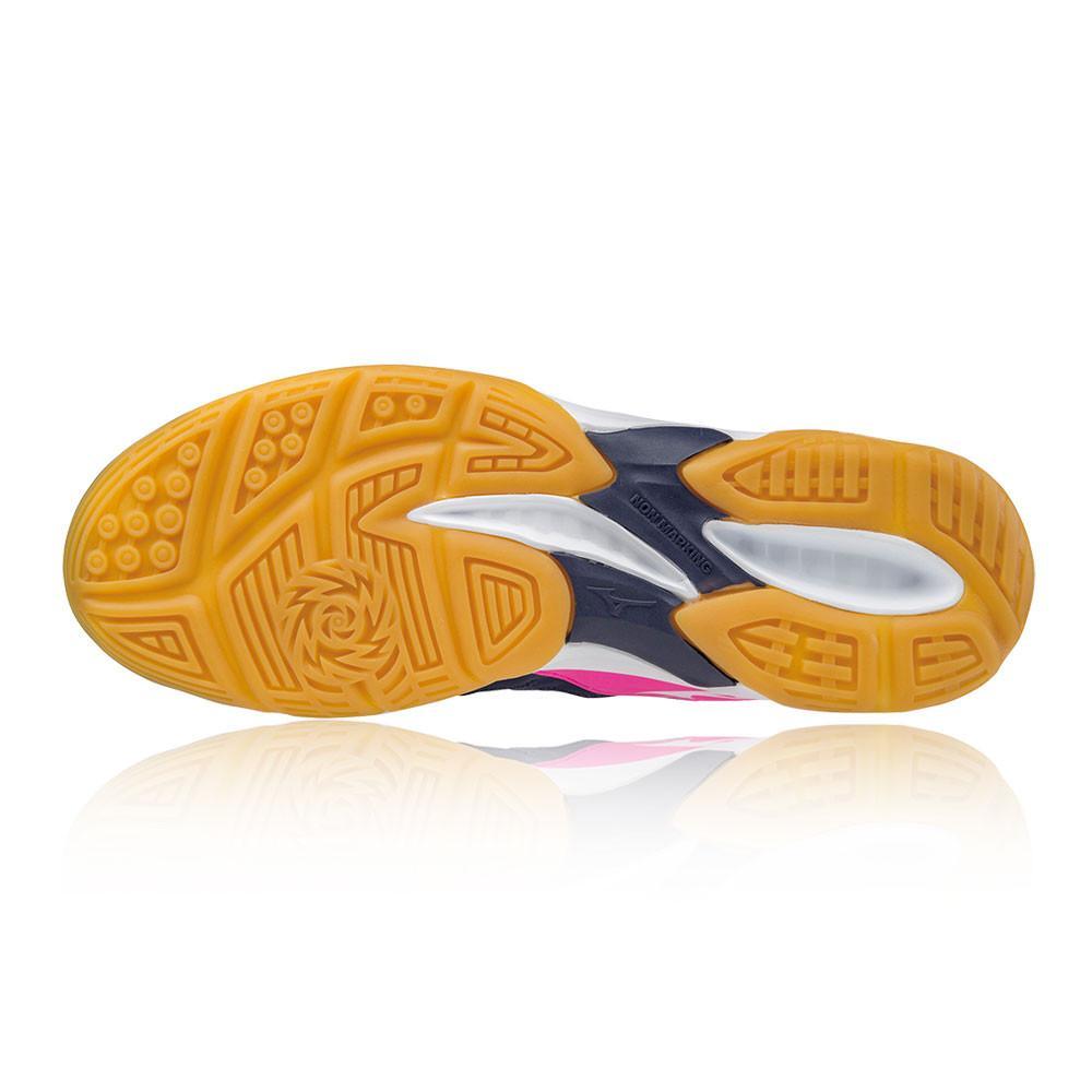 Mizuno – Mujer Thunder Blade Para Mujer Zapatillas Para Canchas Interiores  – Aw17 Netball Rosa/Azul Marino