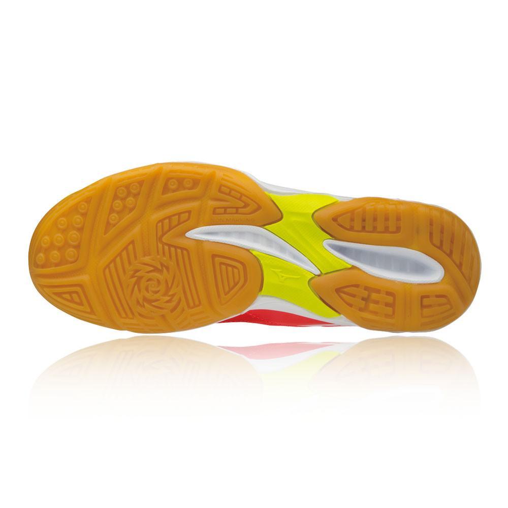 Mizuno – Mujer Thunder Blade Para Mujer Zapatillas Para Canchas Interiores  – Ss18 BALON MANO Rosa/Naranja