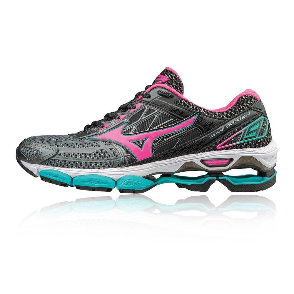 Mizuno – Mujer Wave Creation 19 Para Mujer Zapatillas De Running  – Ss18 Correr Rosa/Gris/Negro