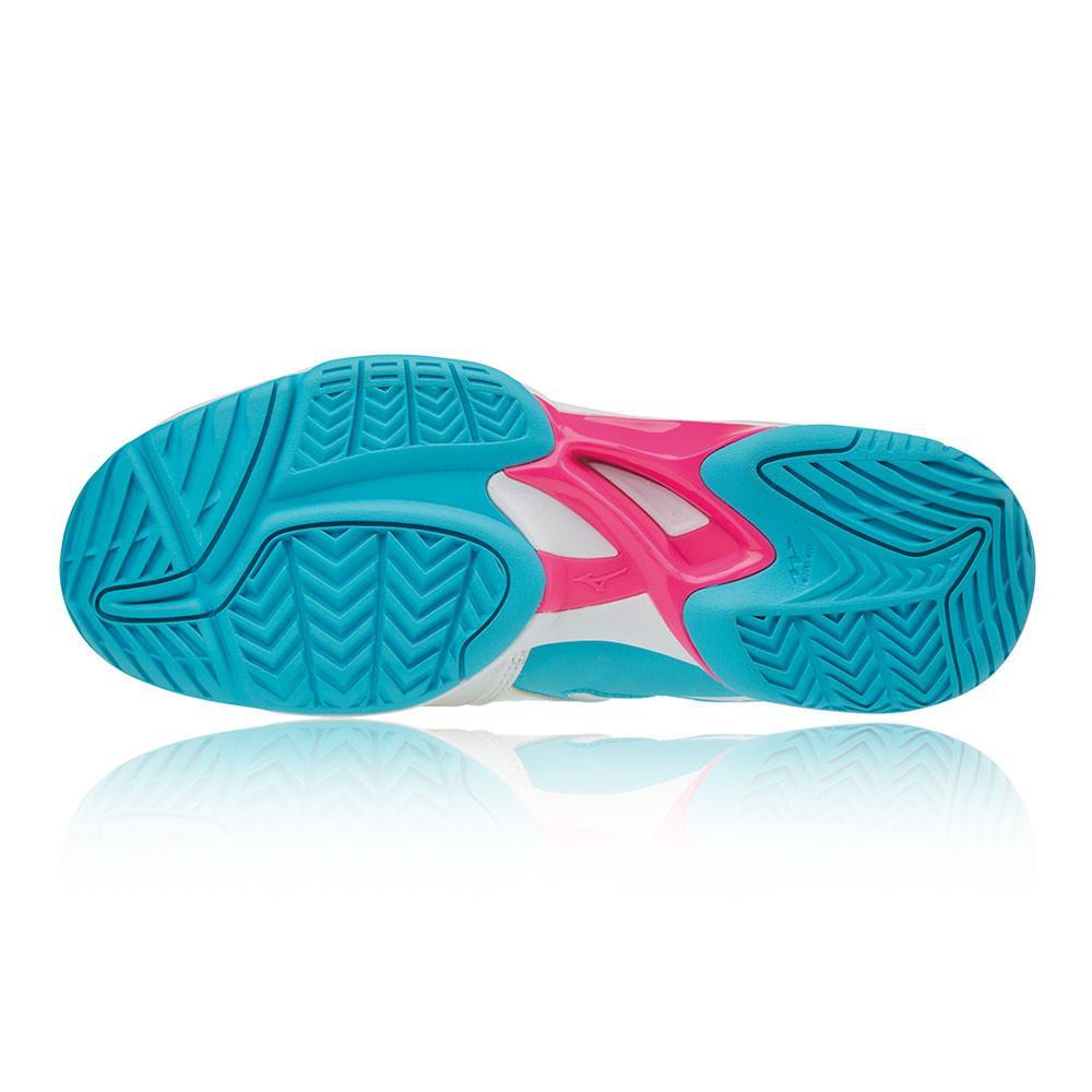 Mizuno – Mujer Wave Exceed 2 Para Mujer Women'S All Court Zapatillas De Tenis – Ss18 Tenis Blanco/Azul