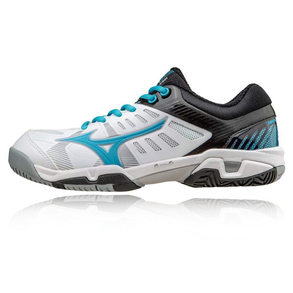 Mizuno – Mujer Wave Exceed Sl Ac Para Mujer Zapatillas De Tenis Tenis Blanco/Negro/Azul Marino