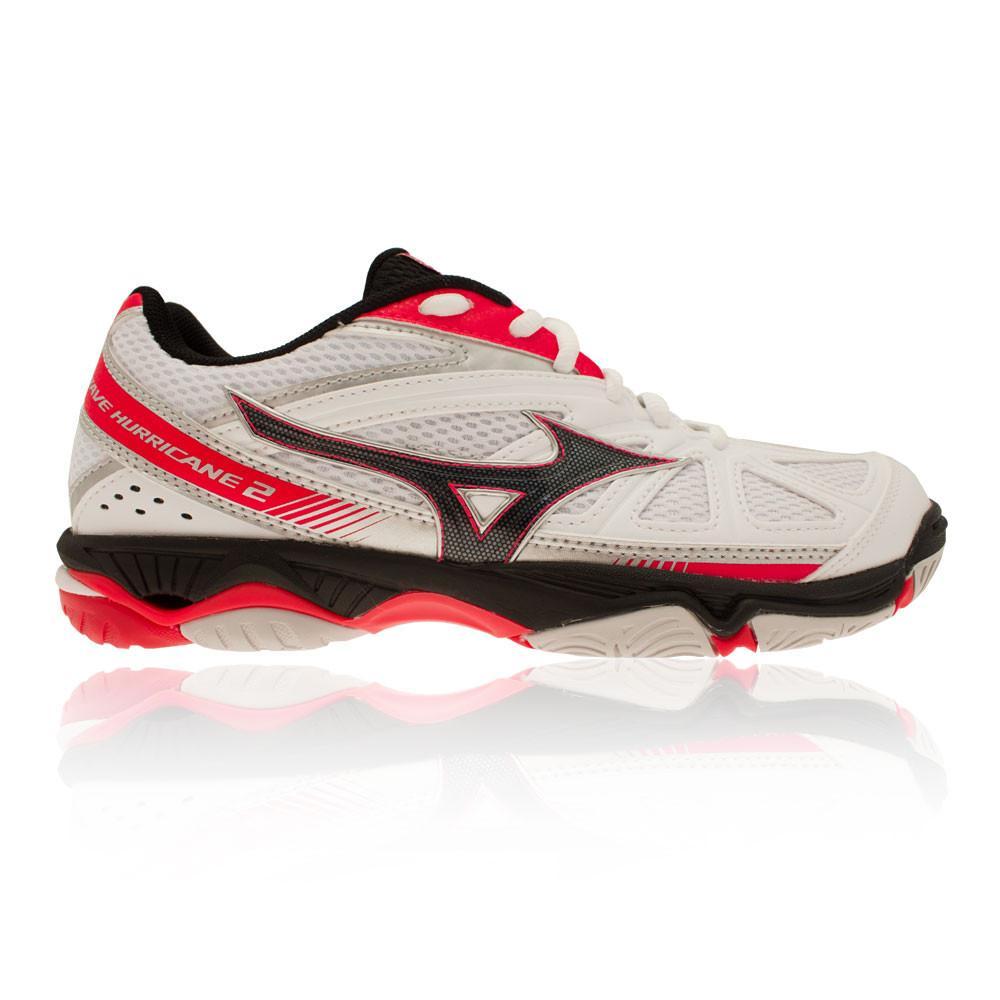 Mizuno – Mujer Wave Hurricane 2 Para Mujer Zapatillas De Netball – Ss17 Netball Blanco/Rosa