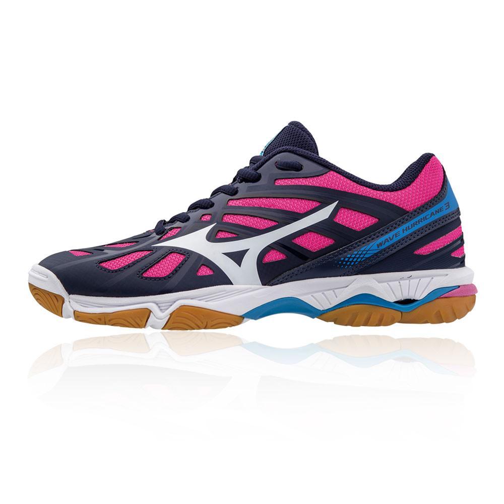 Mizuno – Mujer Wave Hurricane 3 Para Mujer Zapatillas Para Canchas Interiores  – Ss18 Netball Rosa/Morado