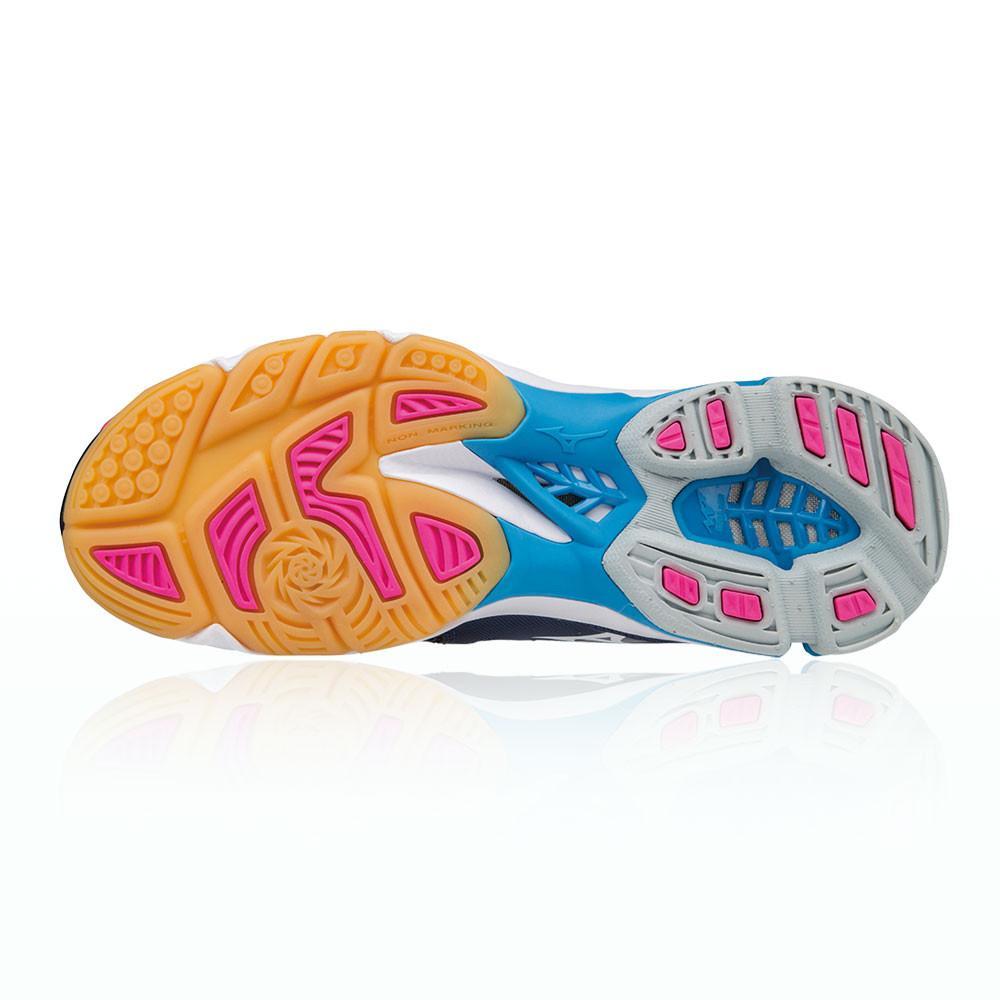 Mizuno – Mujer Wave Lightning Z3 Para Mujer Zapatillas Para Canchas Interiores  – Aw17 Netball Rosa/Azul Marino