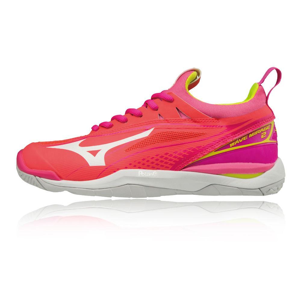 Mizuno – Mujer Wave Mirage 2 Para Mujer Zapatillas Para Canchas Interiores  – Ss18 Netball Rosa/Naranja