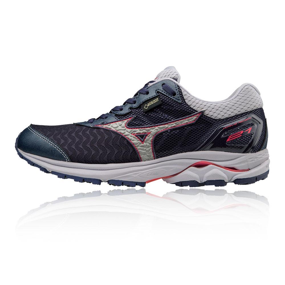 Mizuno – Mujer Wave Rider 21 Gore-Tex Para Mujer Zapatillas De Running  – Ss18 Correr Rosa/Plateado/Azul Marino