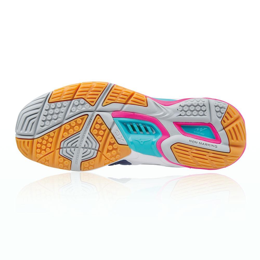 Mizuno – Mujer Wave Stealth 4 Para Mujer Zapatillas Para Canchas Interiores  – Aw17 BALON MANO Blanco