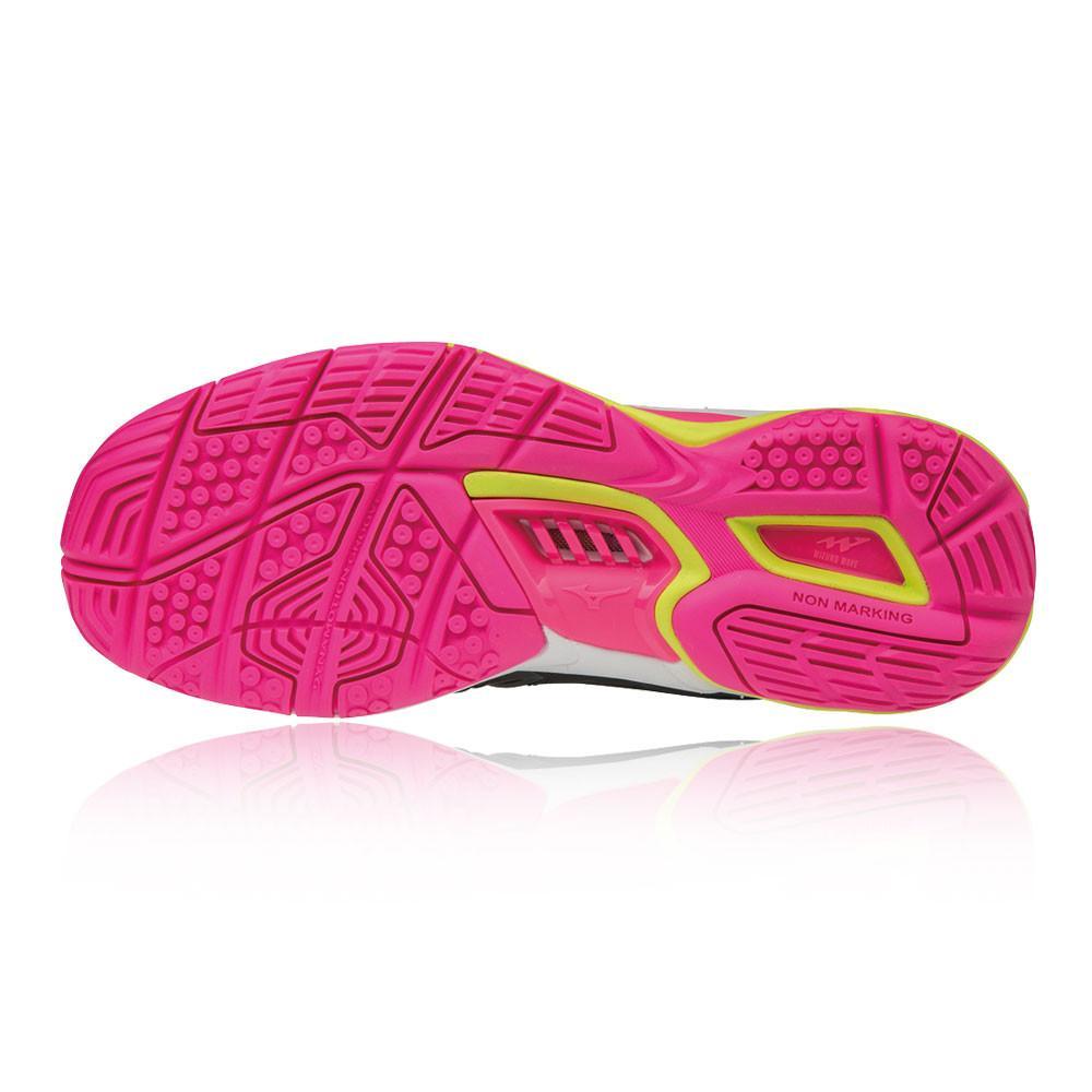 Mizuno – Mujer Wave Stealth 4 Para Mujer Zapatillas Para Canchas Interiores  – Ss18 BALON MANO Rosa/Negro