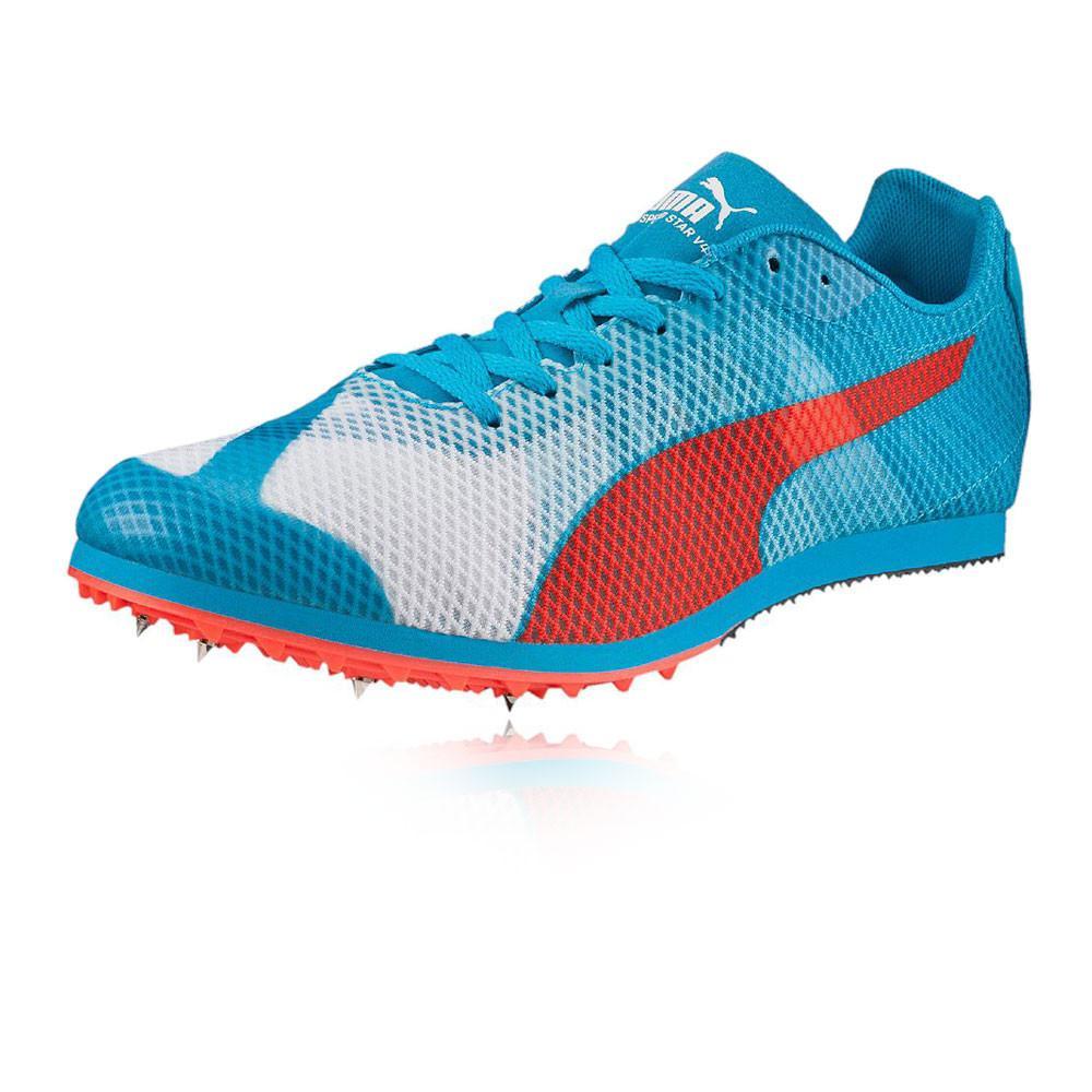Puma – Hombre Evospeed Star V4 Zapatilla De Running Con Clavos Zapatillas Correr Blanco/Rojo/Azul