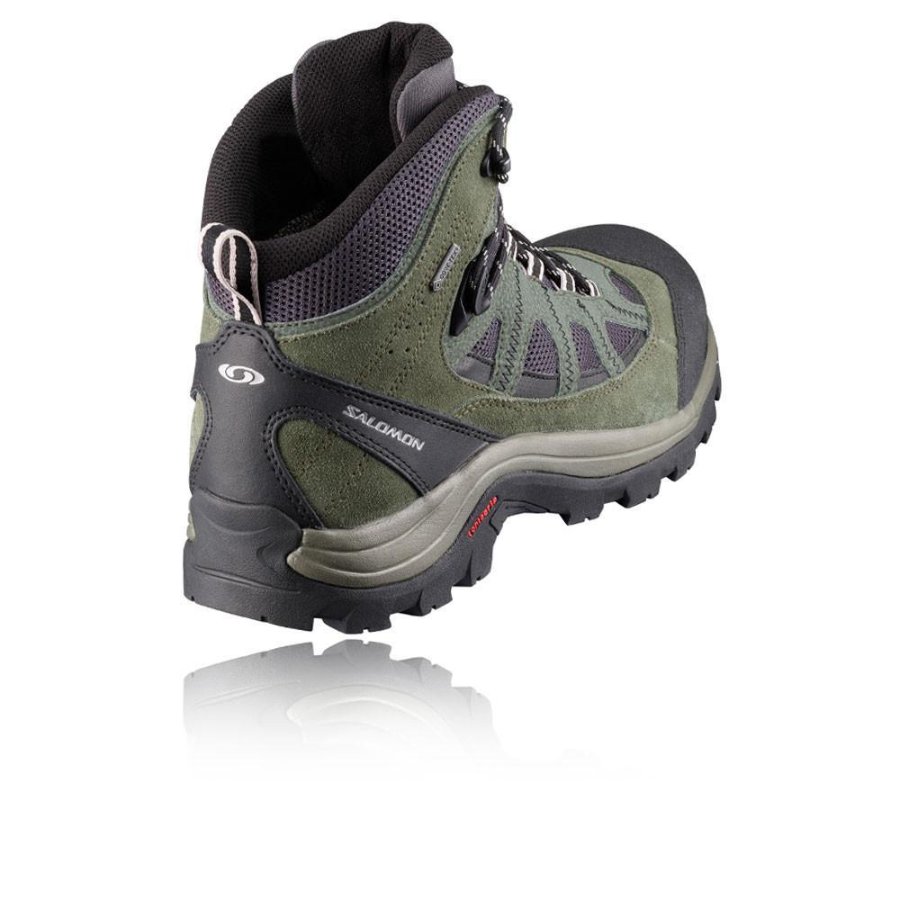 Salomon – Hombre Authentic Ltr Gore-Tex Botas De Trekking – Ss18 Aire libre Verde/Negro