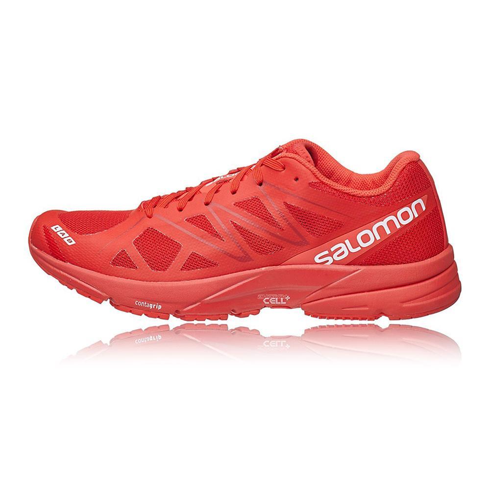 Salomon – Hombre S-Lab Sonic Zapatillas De Running Correr Rojo