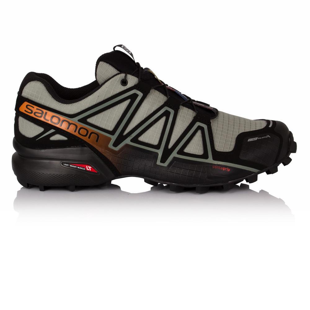 Salomon – Hombre Speedcross 4 Cs Trail Zapatillas De Running  – Ss18 Correr Negro/Plateado