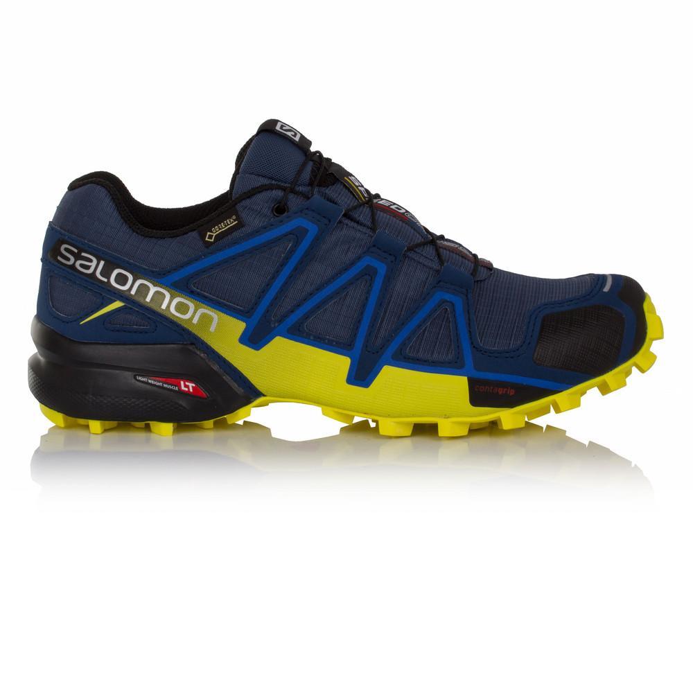 Salomon – Hombre Speedcross 4 Gore-Tex Trail Zapatillas De Running  – Aw17 Correr Azul/Azul Marino