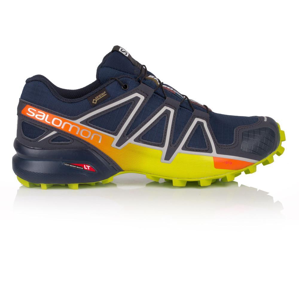 Salomon – Hombre Speedcross 4 Gore-Tex Trail Zapatillas De Running  – Ss18 Correr Azul Marino