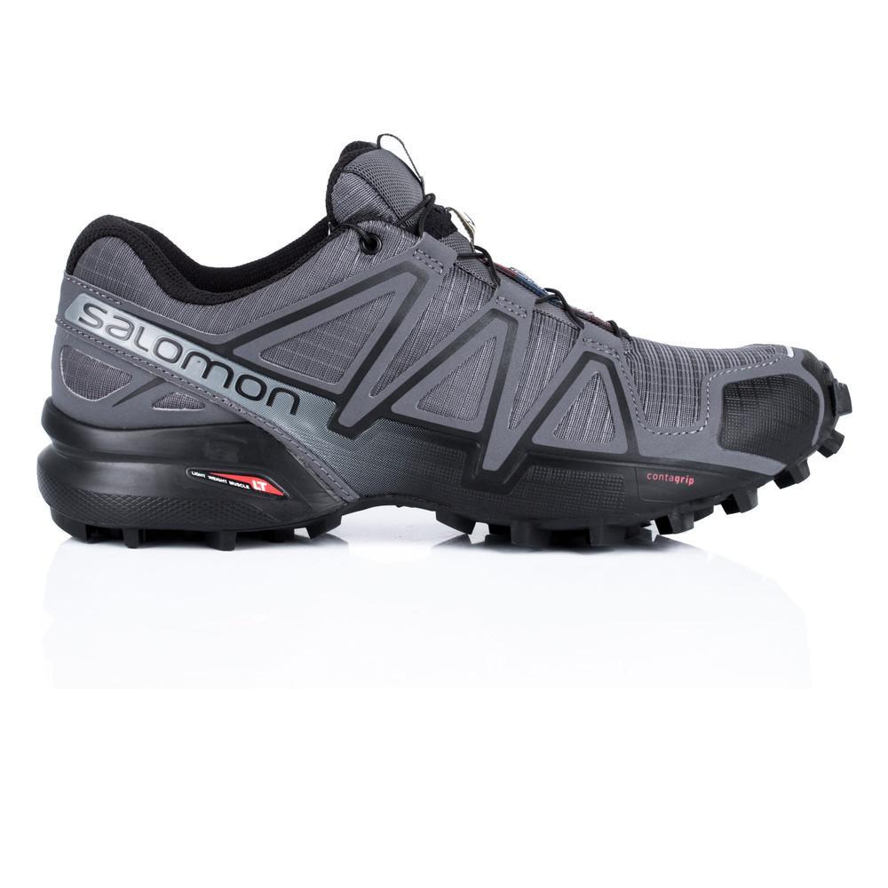 Salomon – Hombre Speedcross 4 Trail Zapatillas De Running Correr Gris/Plateado