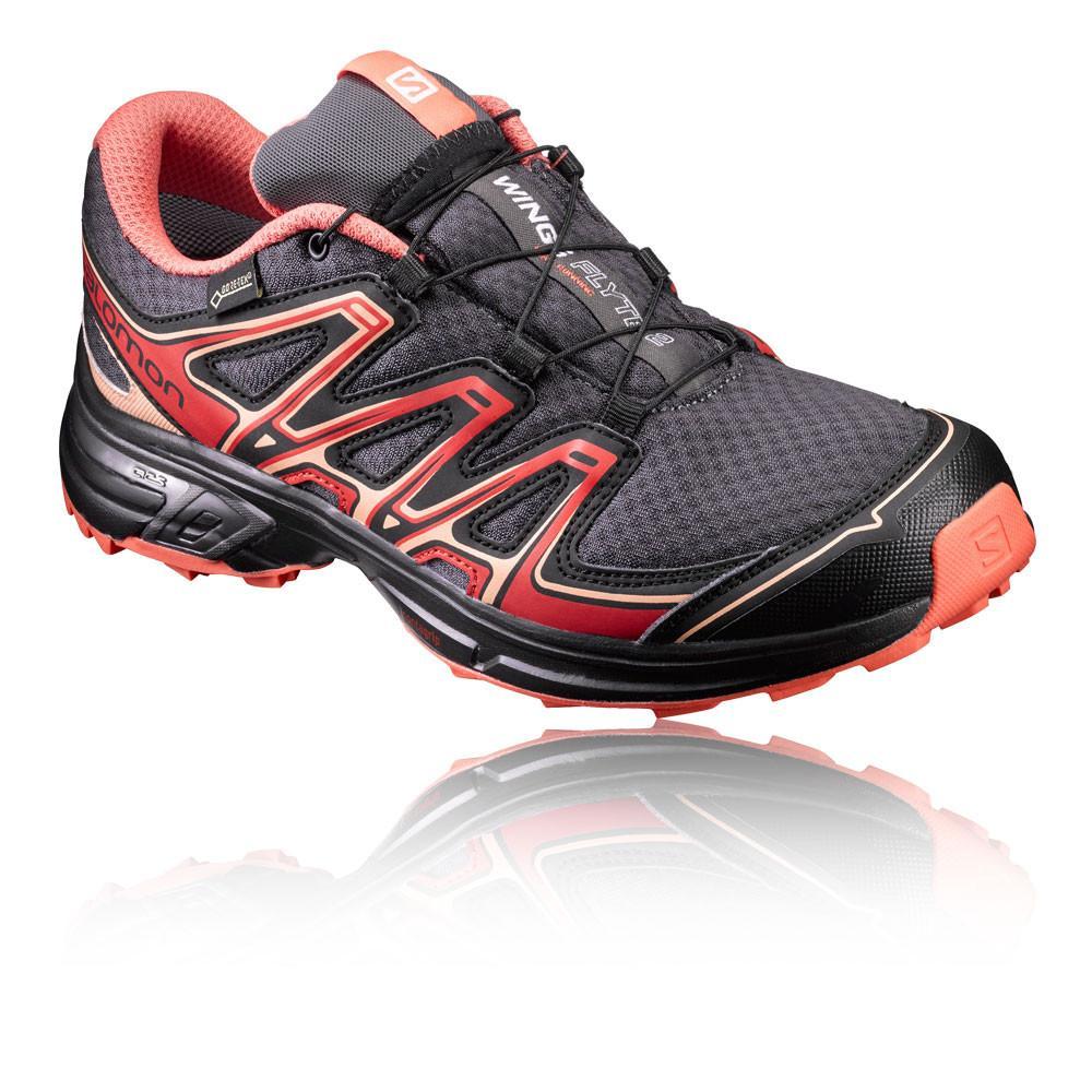 Salomon – Hombre Wings Flyte 2 Gore-Tex Para Mujer Trail Zapatillas De Running  – Aw17 Correr Rojo/Gris
