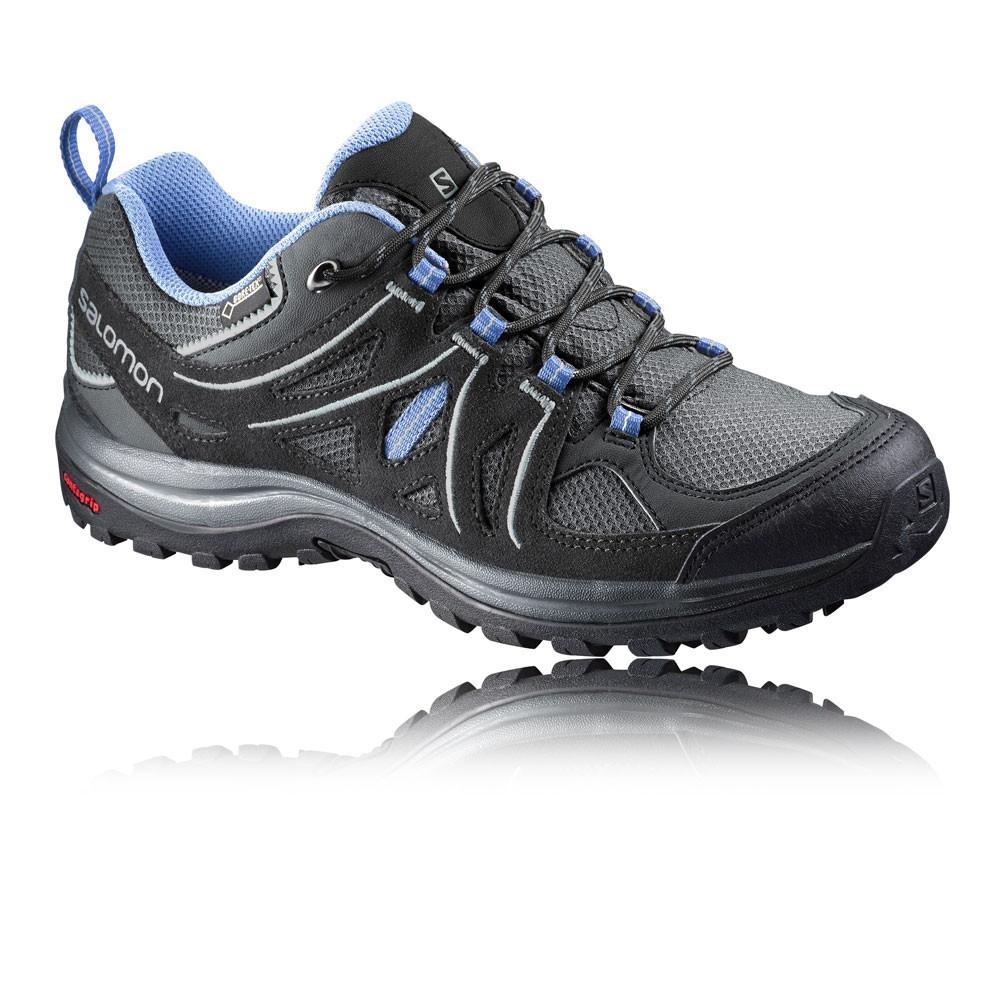Salomon – Mujer Ellipse 2 Gore-Tex Para Mujer Zapatillas De Trekking – Ss18 Aire libre Gris/Azul/Negro