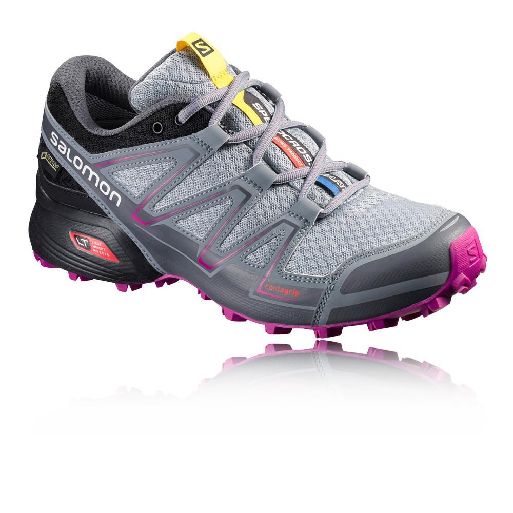 Salomon – Mujer Speedcross Vario Gore-Tex Para Mujer Trail Zapatillas De Running  – Ss17 Correr Gris/Plateado