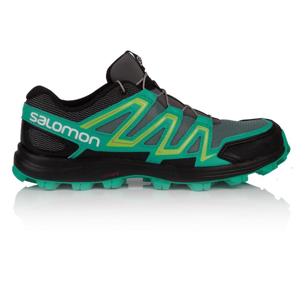 Salomon – Mujer Speedtrak Para Mujer Trail Zapatillas De Running  – Ss18 Correr Gris/Verde