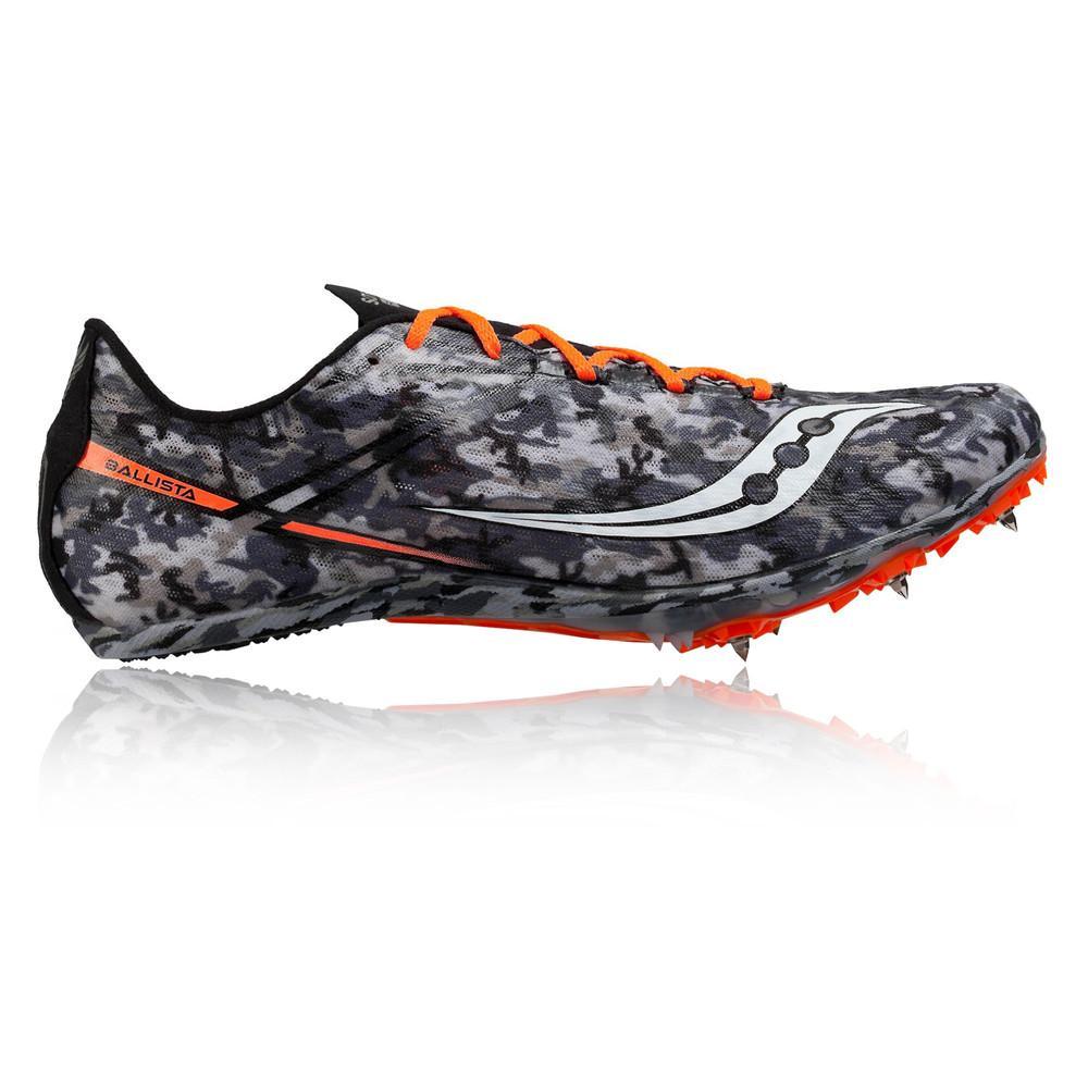 Saucony – Hombre Ballista Zapatillas De Running Con Clavos – Ss18 Correr Naranja/Gris/Negro