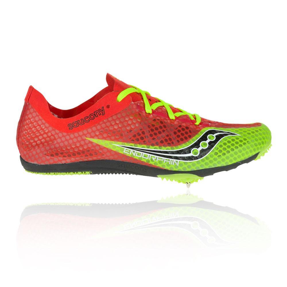 Saucony – Hombre Endorphin Zapatillas De Running Con Clavos – Ss17 Correr Rojo/Verde/Negro