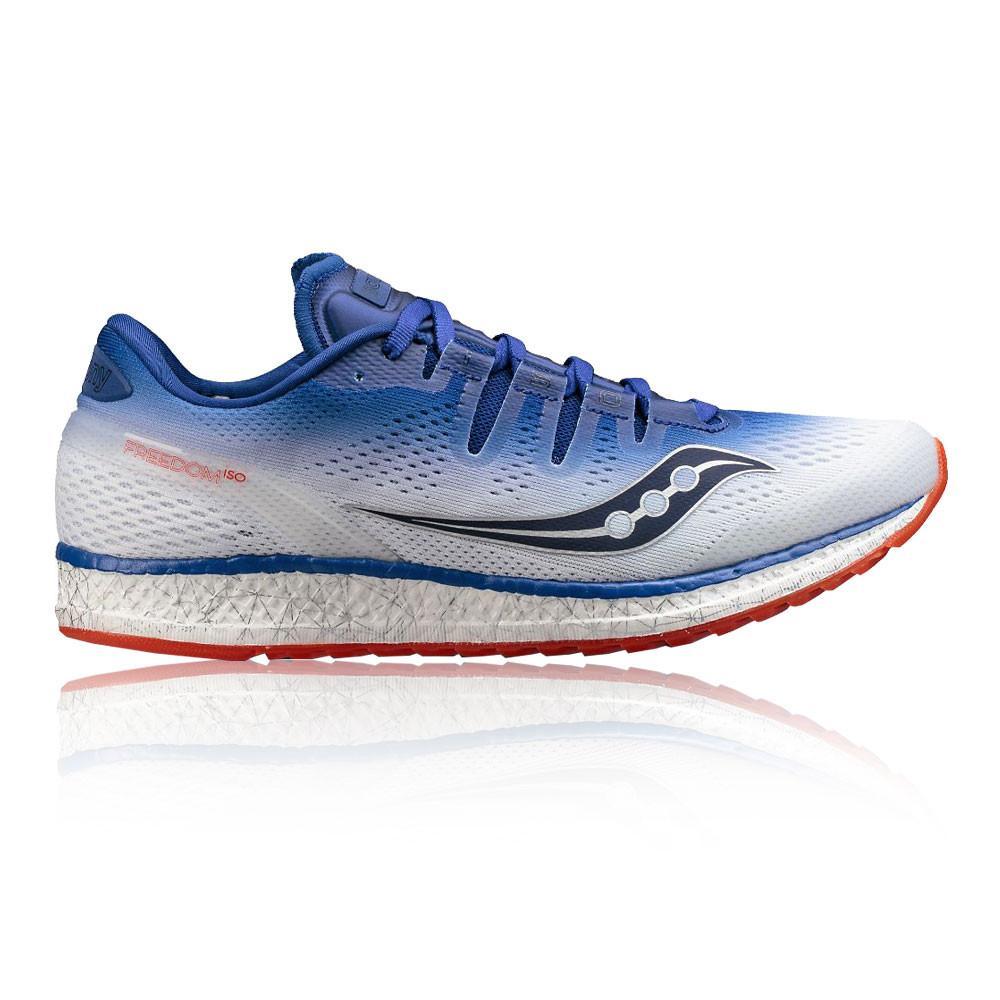 Saucony – Hombre Freedom Iso Zapatillas De Running  – Aw17 Correr Blanco/Azul