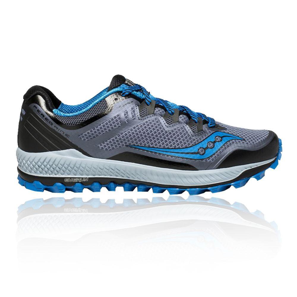 Saucony – Hombre Peregrine 8 Trail Zapatillas De Running  – Ss18 Correr Gris/Azul