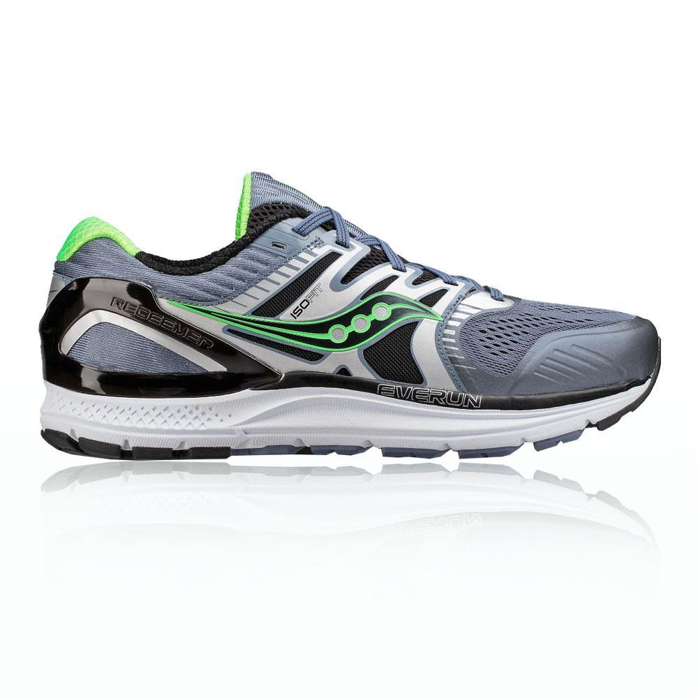 Saucony – Hombre Redeemer Iso 2 Zapatillas De Running  – Ss18 Correr Gris/Verde/Plateado