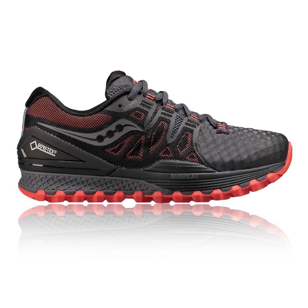 Saucony – Hombre Xodus Iso 2 Gore-Tex Trail Zapatillas De Running  – Ss18 Correr Rojo/Gris