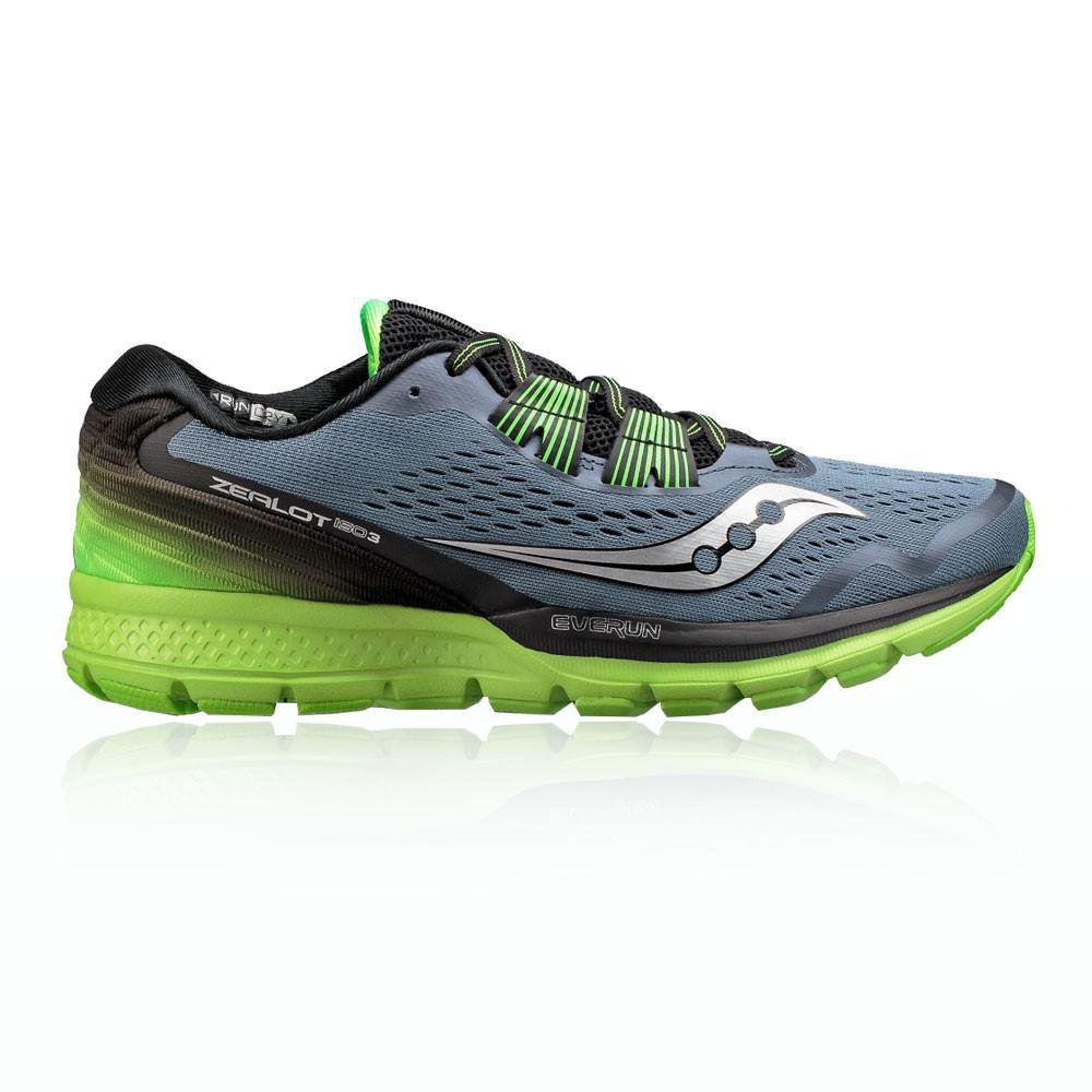 Saucony – Hombre Zealot Iso 3 Zapatillas De Running  – Aw17 Correr Gris/Verde/Negro