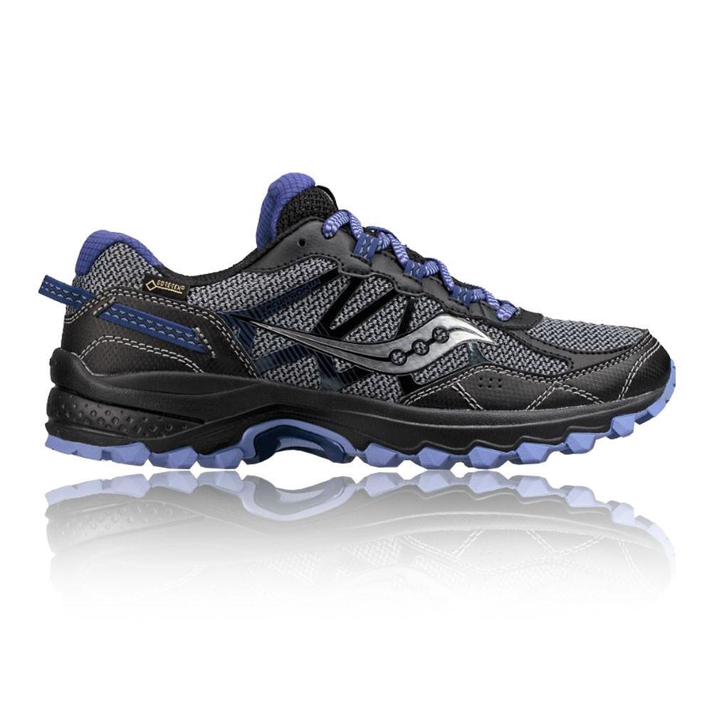 Saucony – Mujer Excursion Tr11 Gore-Tex Para Mujer Trail Zapatillas De Running  – Ss18 Correr Gris/Morado/Negro