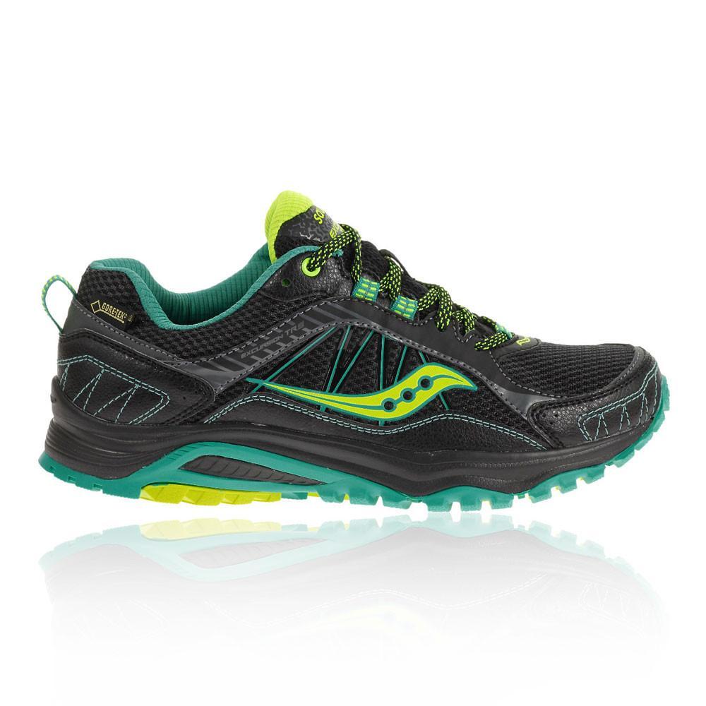 Saucony – Mujer Excursion Tr9 Gore-Tex Para Mujer Zapatillas De Running Correr Verde/Negro