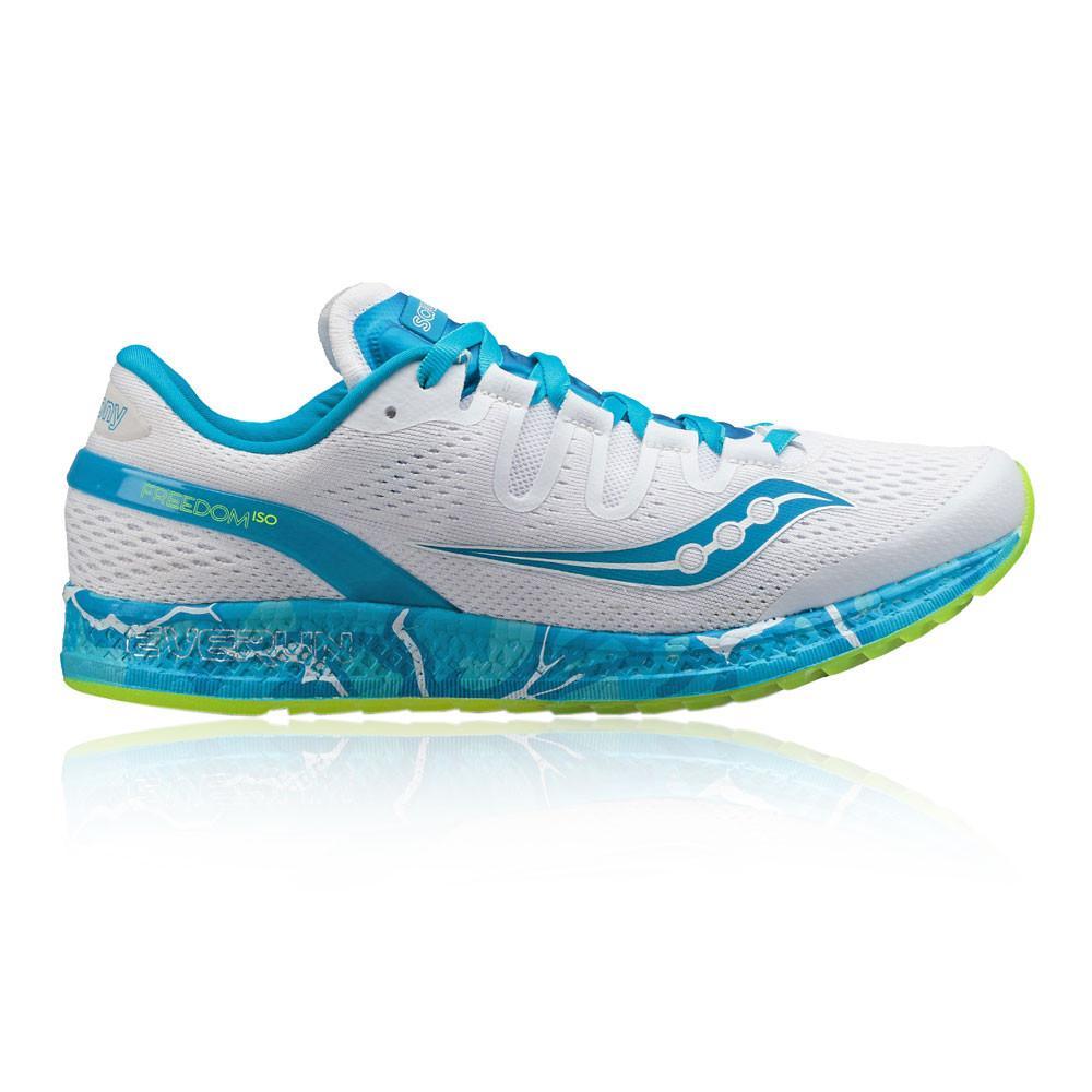 Saucony – Mujer Freedom Iso Para Mujer Zapatillas De Running  – Aw17 Correr Blanco/Azul