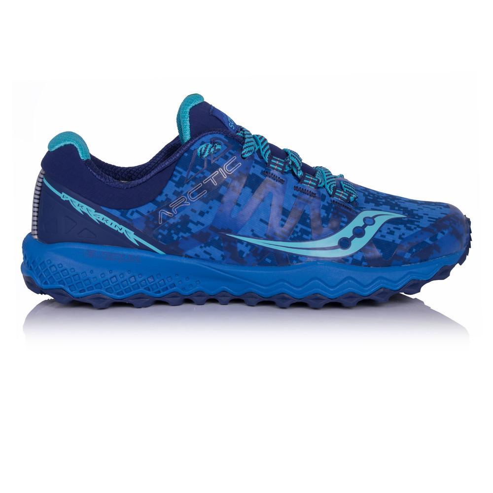 Saucony – Mujer Peregrine 7 Ice+ Para Mujer Zapatillas De Running  – Aw17 Correr Azul