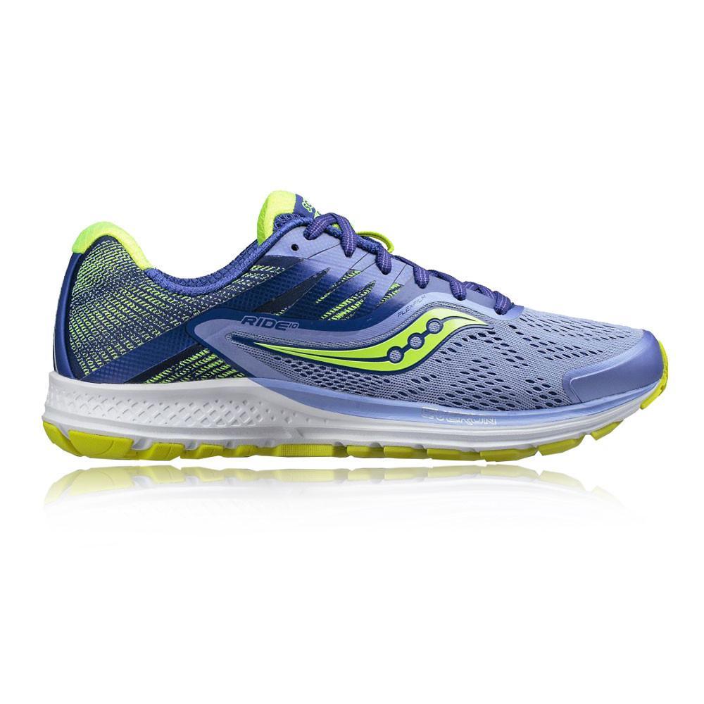Saucony – Mujer Ride 10 Para Mujer Zapatillas De Running  – Aw17 Correr Azul/Morado