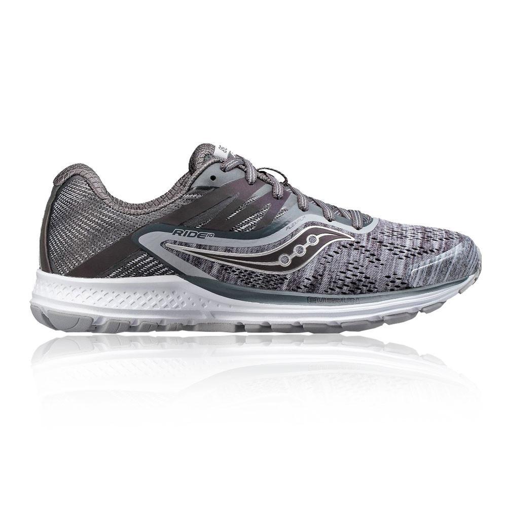 Saucony – Mujer Ride 10 Para Mujer Zapatillas De Running  – Aw17 Correr Gris
