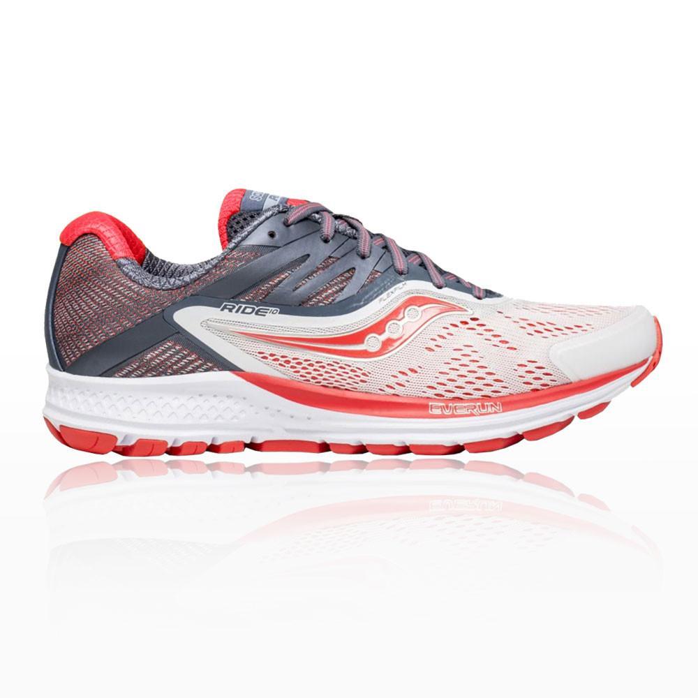 Saucony – Mujer Ride 10 Para Mujer Zapatillas De Running  – Ss18 Correr Blanco/Naranja