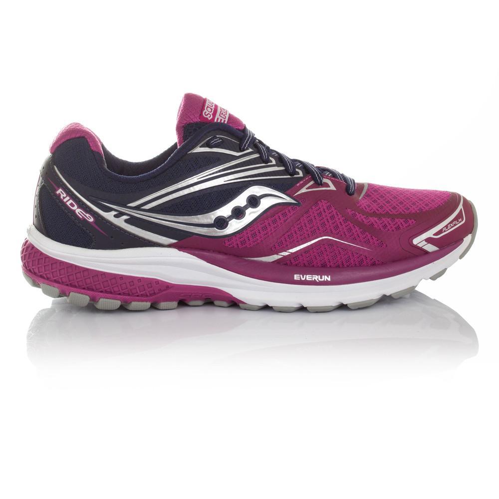 Saucony – Mujer Ride 9 Para Mujer Zapatillas De Running Correr Morado/Azul Marino