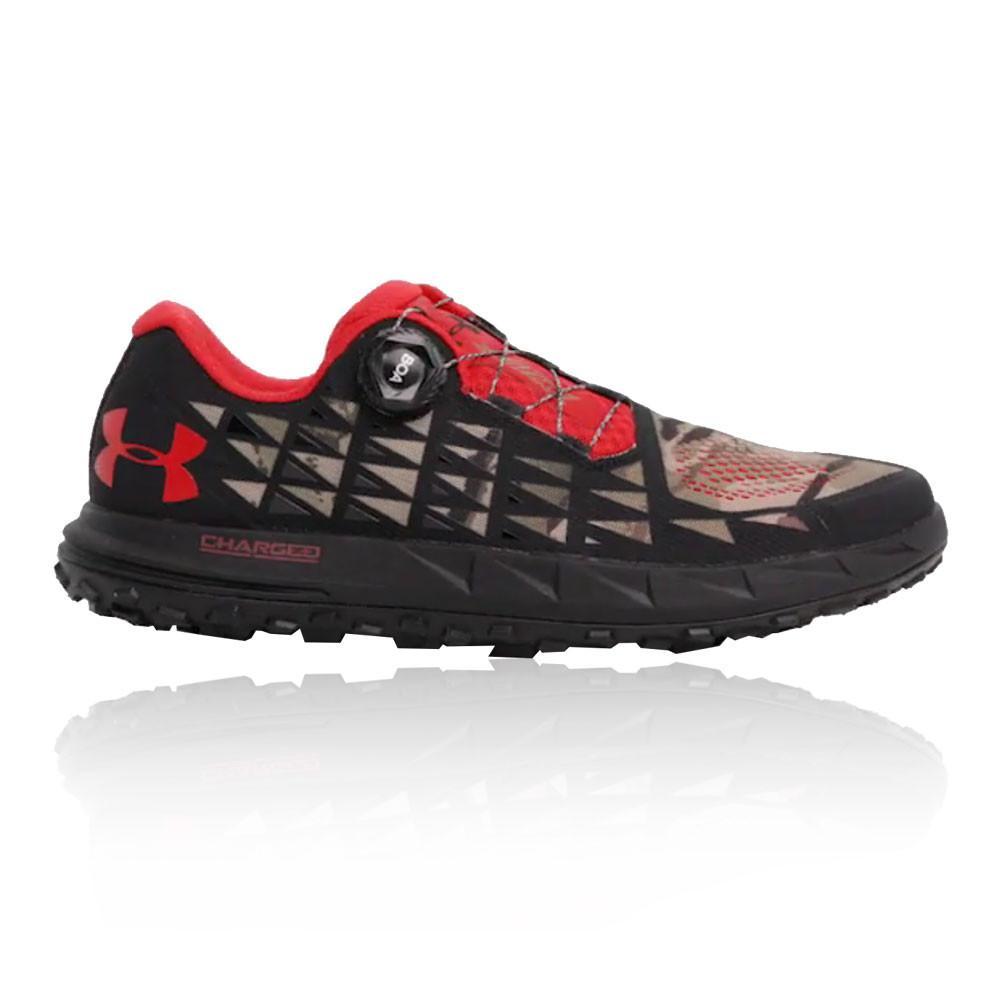 Under Armour – Hombre Fat Tire 3 Trail Zapatillas De Running  – Ss18 Correr Rojo/Negro